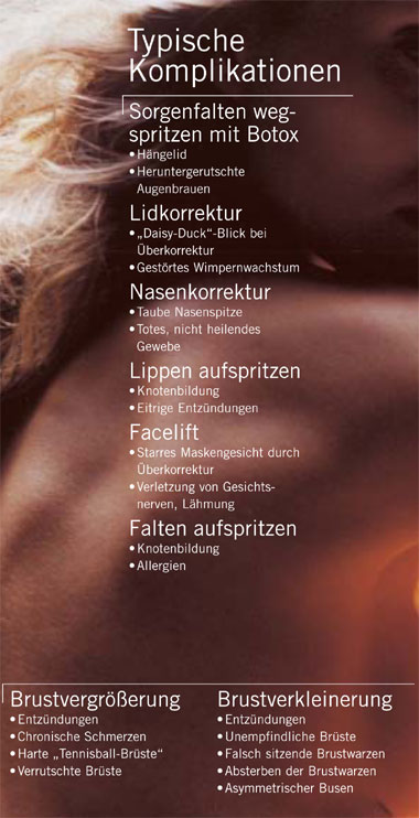 Narben heilendes Gesichtsplastik